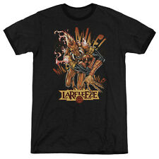 Green Lantern Larfleeze Mens Adult Heather Ringer Shirt Black
