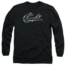 Chevy Chrome Vintage Chevy Bowtie Mens Long Sleeve Shirt Black