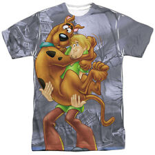 Scooby Doo Scooby And Shaggy Mens Sublimation Polyester Shirt