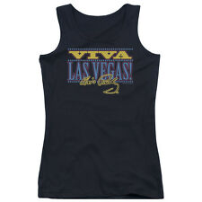 Elvis Presley Viva Las Vegas Juniors Tank Top Shirt BLACK