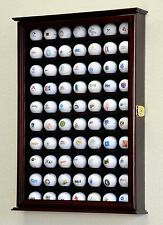 PGA 70 Golf Ball Display Case Cabinet Wall Rack Holder Door Frame - Lockable