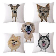 45*45cm Puppy Pet Dog Throw Cushion Pillow Case Cover Sofa Bedroom Home