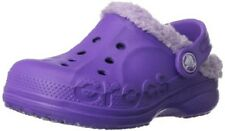Crocs Baya Lined Clogs Toddler Girls Purple 8/9  Perfect for Daycare