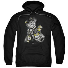 Popeye Get More Spinach Mens Pullover Hoodie