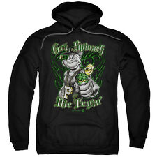 Popeye Get Spinach Mens Pullover Hoodie