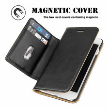 For iPhone 7/7 Plus PU Leather Magnetic adsorption Flip Card Stand Case Cover