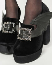 Iron Fist Gothic Goth Witch Nocturnal Platform Shoes Bat Win Ash Costello Black