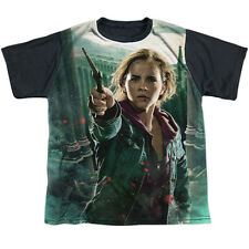 Harry Potter Hermione Final Battle Big Boys Youth Sublimated Shirt with Black Ba