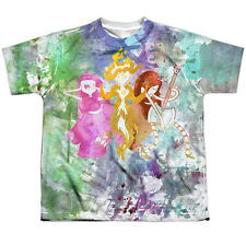 Adventure Time Three Ladies (Front/Back Print) Big Boys Youth Sublimated Polyest