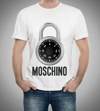 White Men Mens Modern Sexy New T-Shirt Tee Clock Love Moschino 2017