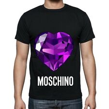 Black Men Mens Modern Sexy New T-Shirt Tee Purple Diamond Love Moschino  2017