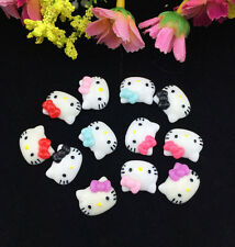 12pcs Cute Resin HELLO KITTY Bow flatback Appliques For DIY craft U Pick Color !