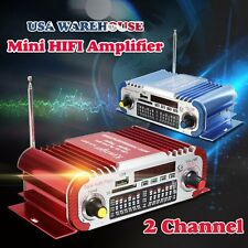 Remote Mini Hi-Fi Power Amplifier Amp Motorcycle Car Home FM USB SD Audio MP3
