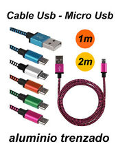 Cable charger Micro Usb aluminium plaited for HTC Legend, Desire, HD Mini