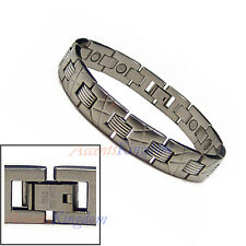ACCENTS KINGDOM MEN'S STAINLESS STEEL MAGNETIC THERAPY GOLF BRACELET K