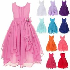 Kids Pageant Birthday Flower Girl Dress Wedding Bridesmaid Gown Formal Dresses