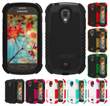 DUO-SHIELD RUBBER SKIN HARD CASE SCREEN PROTECTOR FOR SAMSUNG GALAXY LIGHT T399