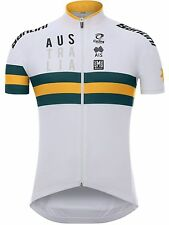 Santini White 2017 Australian National Team Short Sleeved Cycling Jersey