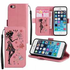 Cute Leather Flip Card Stand Wallet Case Cover For Apple iPhone 5 6 6S 7 7 Plus