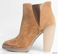 new $320 SIGERSON MORRISON Belle camel suede ANKLE BOOTS 10 - SUPER comfortable