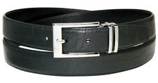 Croc Pattern Crocodile Embossed Belts Bonded Leather Men's Belt Silver-Tone Bckl