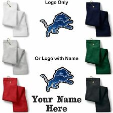 Detroit Lions Logo Embroidered Golf Sport Towel Reg. or Custom/Personalized