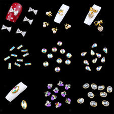 10pcs 3D Nail Art Alloy Decoration Bling Rhinestones Charm Glitters Tips DIY