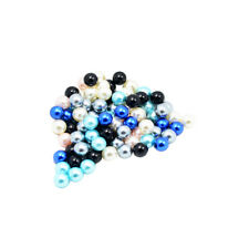 100 Pieces Faux Pearl Round Beads without Hole Jewelry Accessory