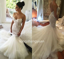 Mermaid Summer Wedding Dresses White Ivory Bridal Gowns Custom Sleeveless 2017