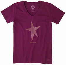 Life Is Good Womens Shine On Star Crusher T-Shirt