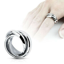 Triple Roll Links Band Ring 316L Stainless Steel