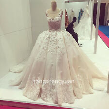 Sleeveless Wedding Dresses White Ivory Bridal Gowns Custom 2017 Lace Ball Gowns
