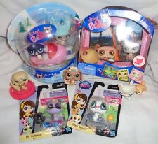 "LITTLEST PET SHOP ""LPS"" LOT OF 8 CUTE PETS DOGS, CATS, BADGER PENGUIN NEW"