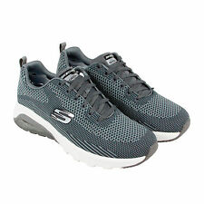Skechers Skech Air Varsity Mens Gray Mesh Athletic Lace Up Training Shoes