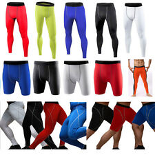 Mens Compression Base Layer Sports Tight Gym Pants Long Leggings Running Fitness