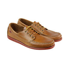 Sebago Campsides Mens Brown Leather Casual Dress Lace Up Boat Shoes Shoes