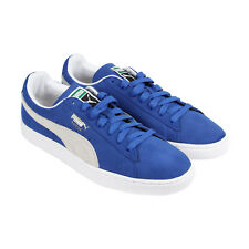 Puma Suede Classic + Mens Blue Suede Lace Up Sneakers Shoes