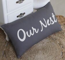 Our Nest Pillowcase Family Housewarming Pillow Cover Embroidered Pillow cover