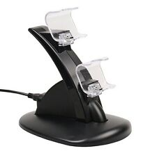New PS4 Dual Controller LED Charger Dock Station USB Fast Charging Stand