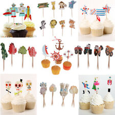 24pcs /Set Funny Assorted Cupcake Picks Cake Topper Baby Shower Party Decoration