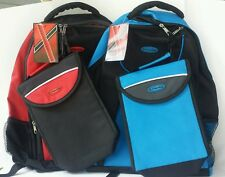 Access Intense Backpack/Bookbag & Matching Insulated Lunch Bag Nylon Red/Blue