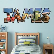 Cars Movie PERSONALIZED NAME Decal WALL STICKER Home Art Disney Mcqueen J244