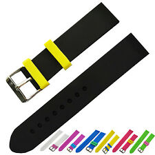 New 18mm Silicone Rubber Watch Strap Divers Band Color rubber watch strap loop