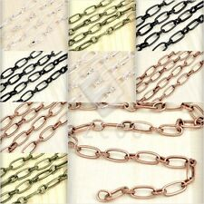 2M Iron Textured Cable Chain Unfinished Chains 8.8x3.7/10x4.7mm Hot Sale