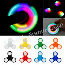 LED Light Fidget Hand Spinner Torqbar Brass Finger Toy EDC Focus Gyro Anxiety
