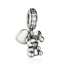 authentic 925 Sterling Silver Baby Treasures Charm Teddy Bear Pendant beads