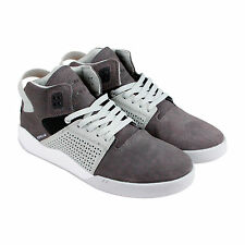 Supra Skytop III Mens Grey Suede Lace Up Sneakers Shoes