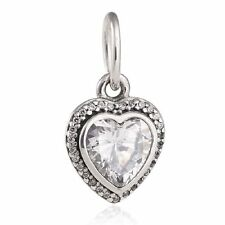 authentic 925 sterling silver bead CZ Dangle Charm Pendant AAA genuine charms