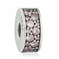 authentic 925 sterling silver Stopper Clip Bead AAA CZ genuine charms Beads