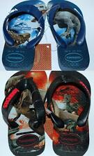HAVAIANAS Genuine BNWT Toddler THONGS FLIP FLOPS JURASSIC WORLD Blue Black Logo